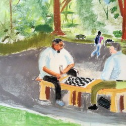 Two Men Chess in the Park